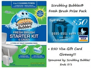 Scrubbing Bubbles® Fresh Brush Prize Pack and a $50 Visa Gift Card Giveaway
