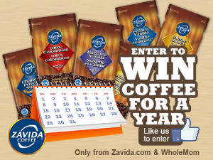 Zavida Coffee For A Year Giveaway 6 WINNERS!