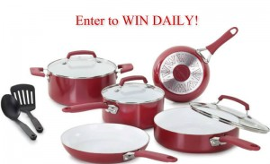 Enter to WIN a Red 10 Piece Cookware Set