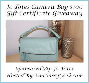 Jo Totes $100 Gift Certificate Giveaway