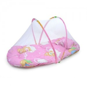 Portable Folding Kid Infant Travel Bed Crib Canopy Mosquito Net Tent With Pillow