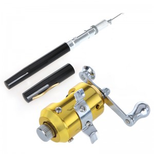 Mini Portable Pocket Travel Pen Fish Fishing Rod Pole and Reel