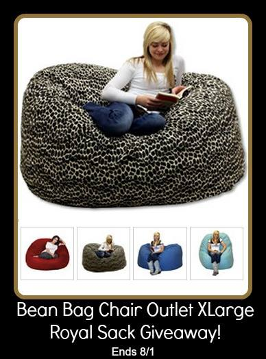 Bean Bag Chair Outlet XLarge Royal Sack Giveaway