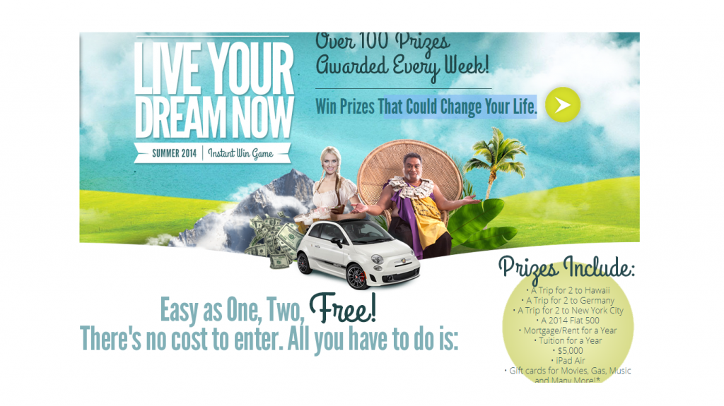J.G. Wentworth - Live Your Dream Now Instant Win Game