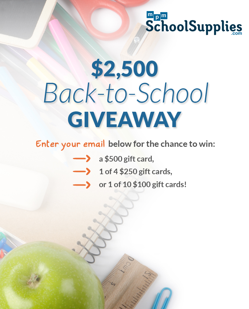 Win FREE Classroom Supplies in the @MPMSchoolSupply $2,500 #Back-to-School #Giveaway