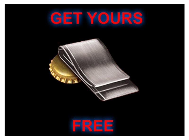 Free Black & Mild Money Clip Bottle Opener