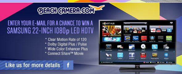 Beach Camera - Samsung 22 inch 1080p LED HDTV Sweepstakes