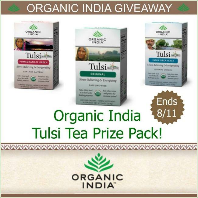 Organic India Tulsi Tea Prize Pack Giveaway
