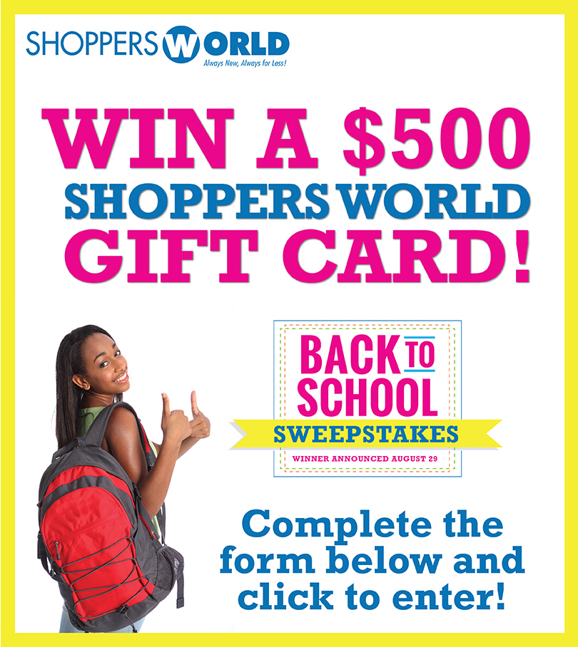 Shoppers World Back to School Sweepstakes