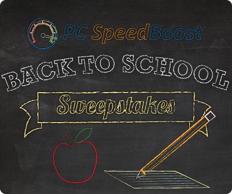 @PCSpeedBoost #BacktoSchool Sweepstakes ends 10/01