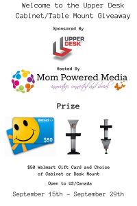 Upper Desk Tablet Mount and $50 Walmart GC Giveaway ends 9/29