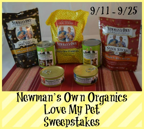 Newman's Own Organics Love My Pet Giveaway ends 9/25