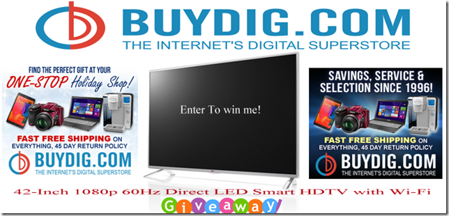 42 Inch Direct LED Smart HDTV With Wi-Fi Giveaway