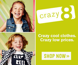 $8.88 jeans  free shipping on orders over $50 at Crazy 8!