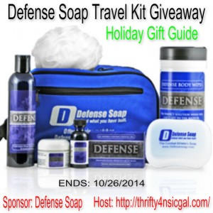 Enter the Defense Soap Deluxe Travel Kit #GiftGuide Giveaway. Ends 10/26.