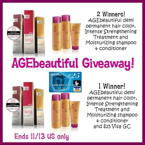 AGEBeautiful Hair Care Products and a $25 Visa Gift Card Giveaway