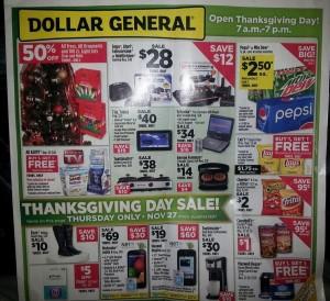 Dollar General #BlackFriday Ad