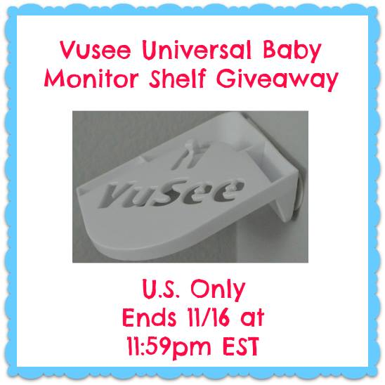 Vusee Baby Monitor Shelf Giveaway