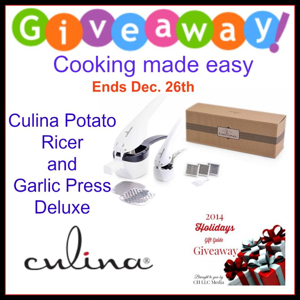 Culina Potato Ricer and garlic Press Deluxe Giveaway