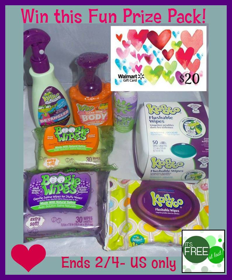 Boogie & Kandoo Wipes Prize Pack AND $20 Walmart Gift Card Giveaway