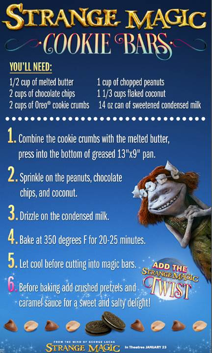 #StrangeMagic – Cookie Bars Recipe