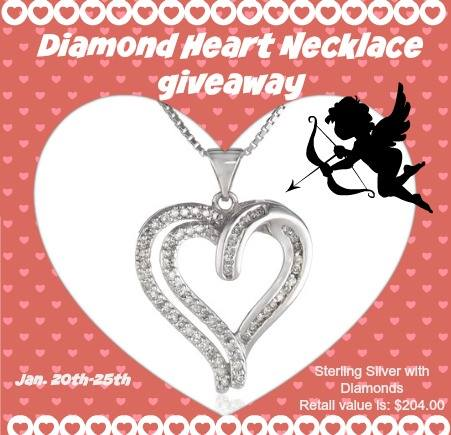 Diamond Heart Necklace Giveaway