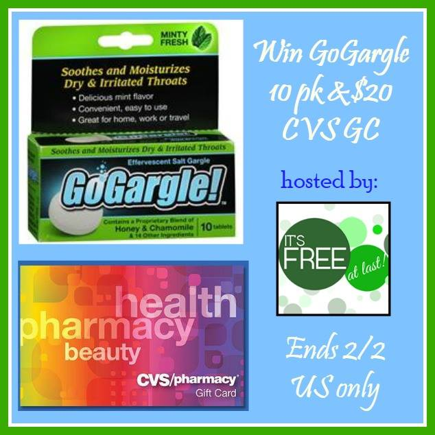 GoGargle 10 Pack and $20 CVS Gift Card Giveaway