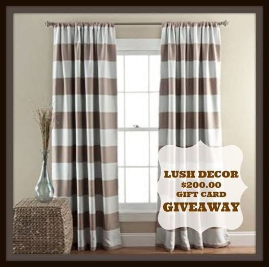 Lush Decor $200.00 Gift Card Giveaway