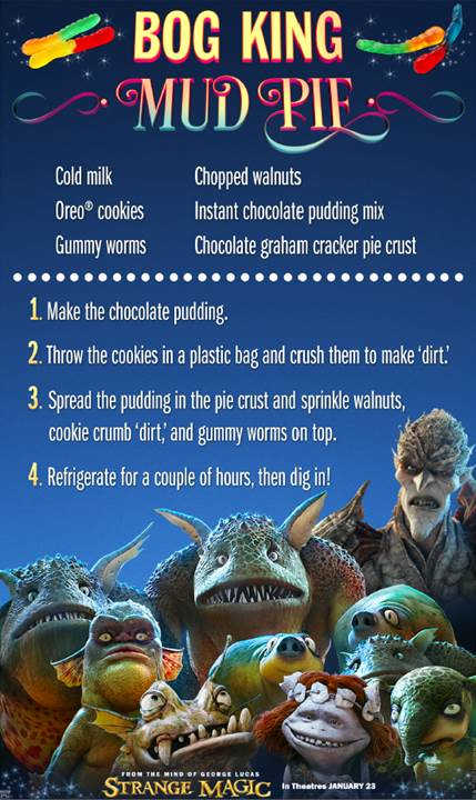 #StrangeMagic – Bog King Mud Pie Recipe
