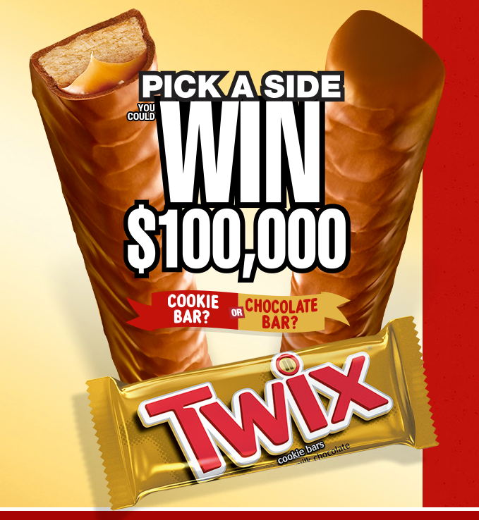 TWIX Brand Pick A Side Game & Sweepstakes