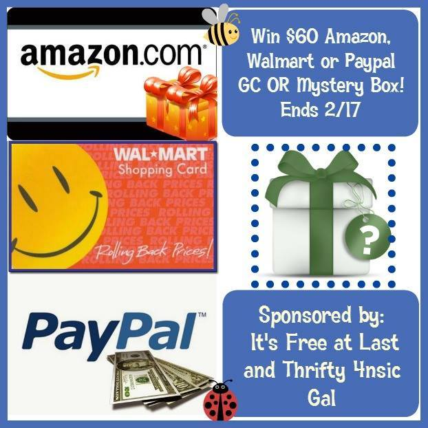 Walmart, Amazon or Paypal $60 Gift Card