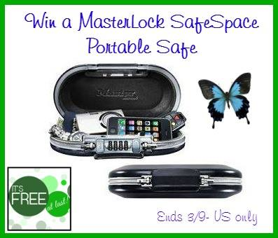 MasterLock SafeSpace Portable Safe Giveaway