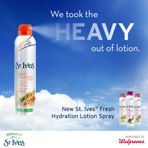 Save on St. Ives® Fresh Hydration Lotion Sprays at Walgreens