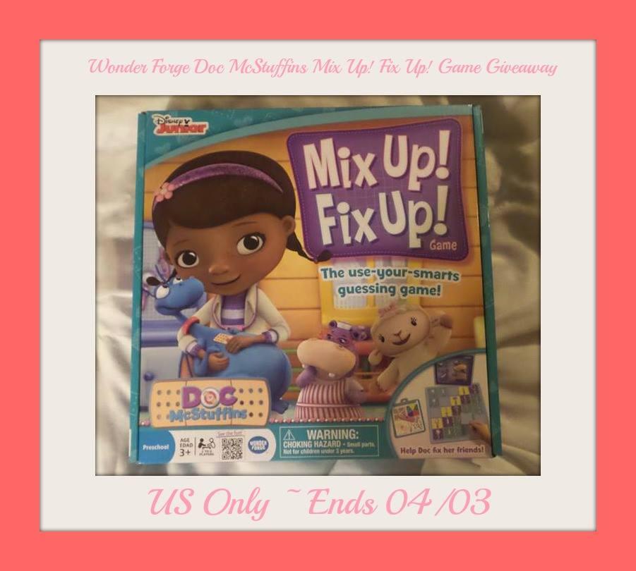 Wonder Forge Doc McStuffins Mix Up! Fix Up! Game Giveaway