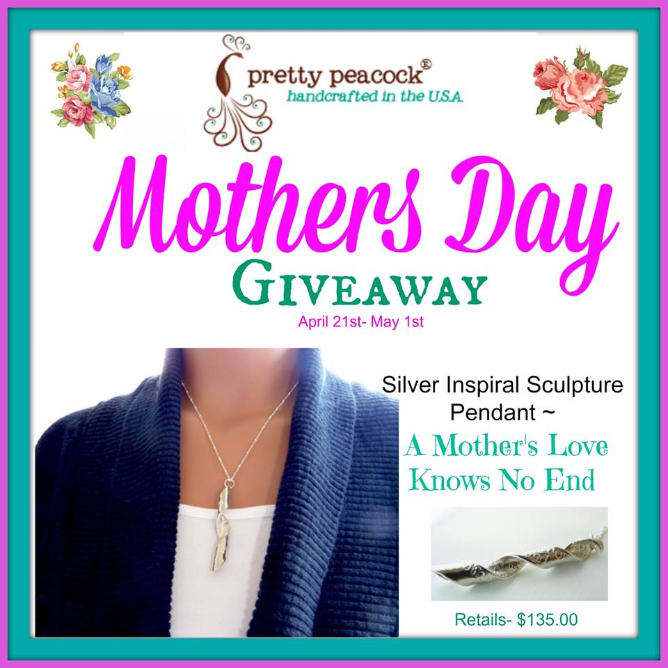 Mothers Day - Pretty Peacock Sterling Silver Necklace Giveaway