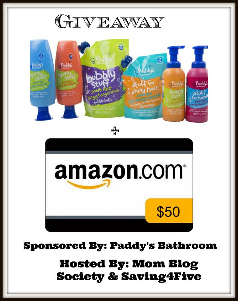 Paddy's Bathroom Products and $50 Amazon Gift Card Giveaway