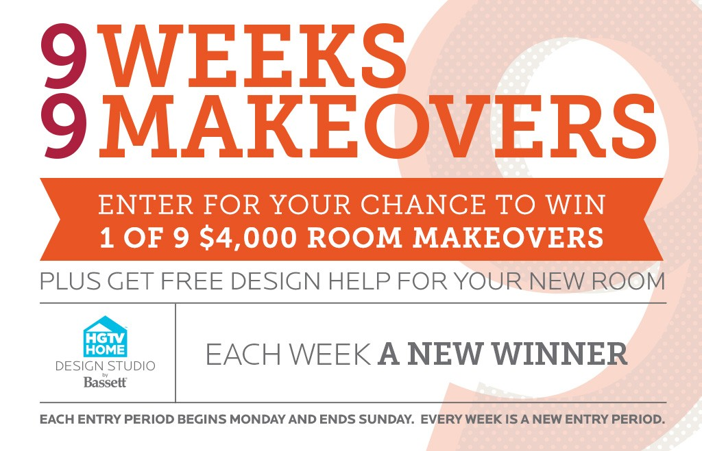 Bassett '9 Weeks, 9 Makeovers' Sweepstakes
