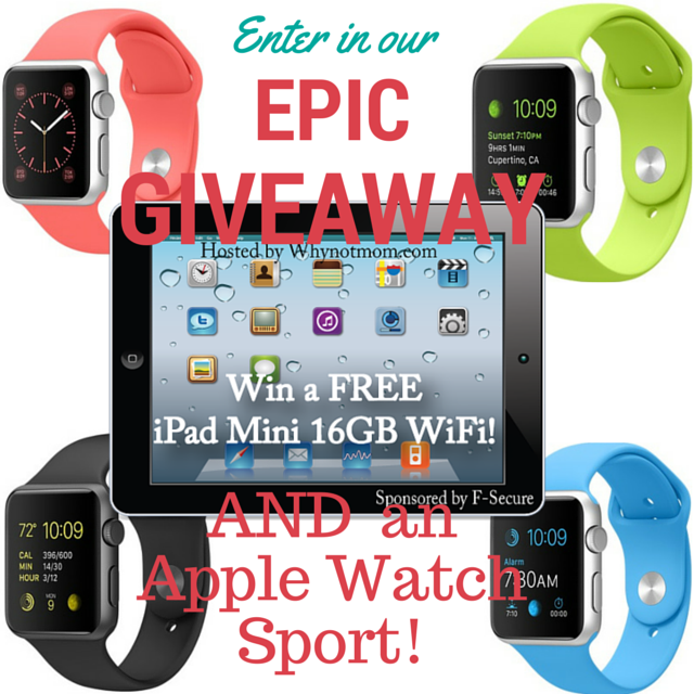 F-Secure iPad Mini and Apple Watch Sport Giveaway