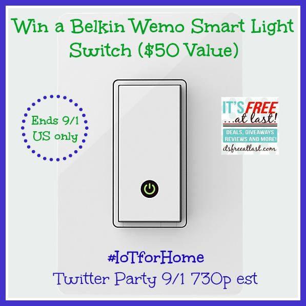 Verizon Wireless Belkin Wemo Smart Light Switch Giveaway
