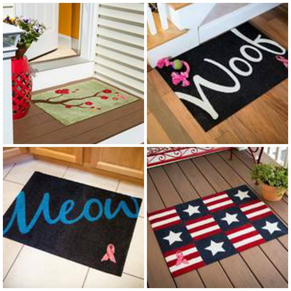 Breast Cancer Awareness Support Welcome Mat Giveaway1