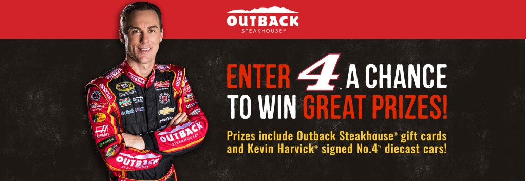 Outback Steakhouse Kevin Harvick Sweepstakes