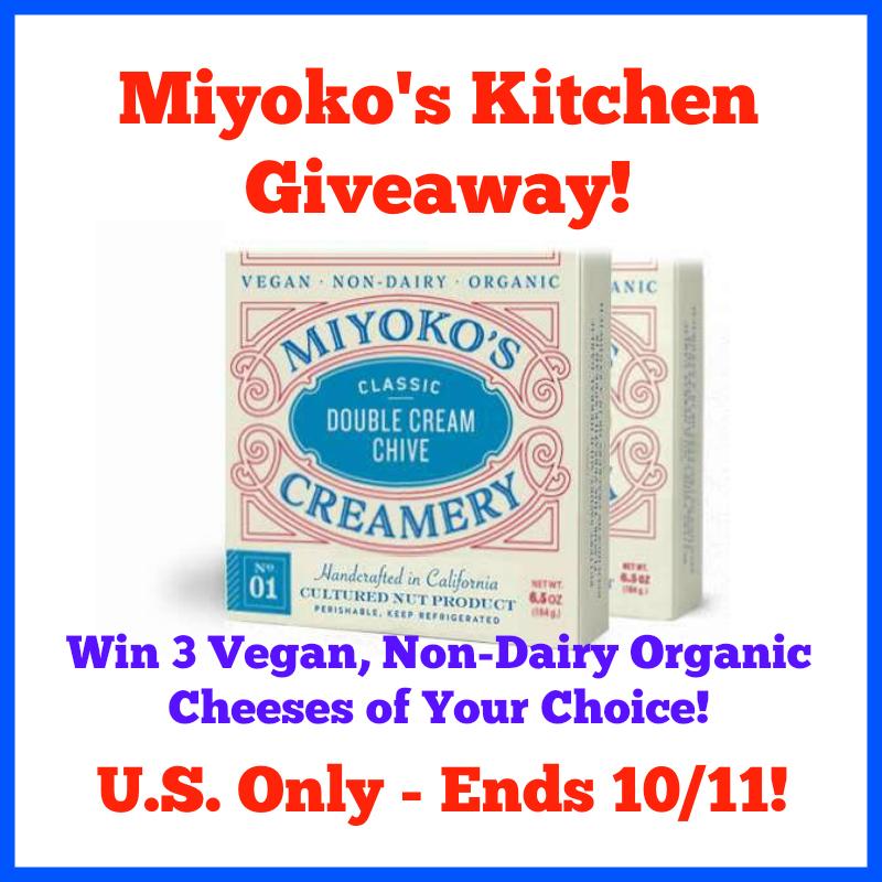 Miyoko's Kitchen Natural Dairy Cheeses Giveaway