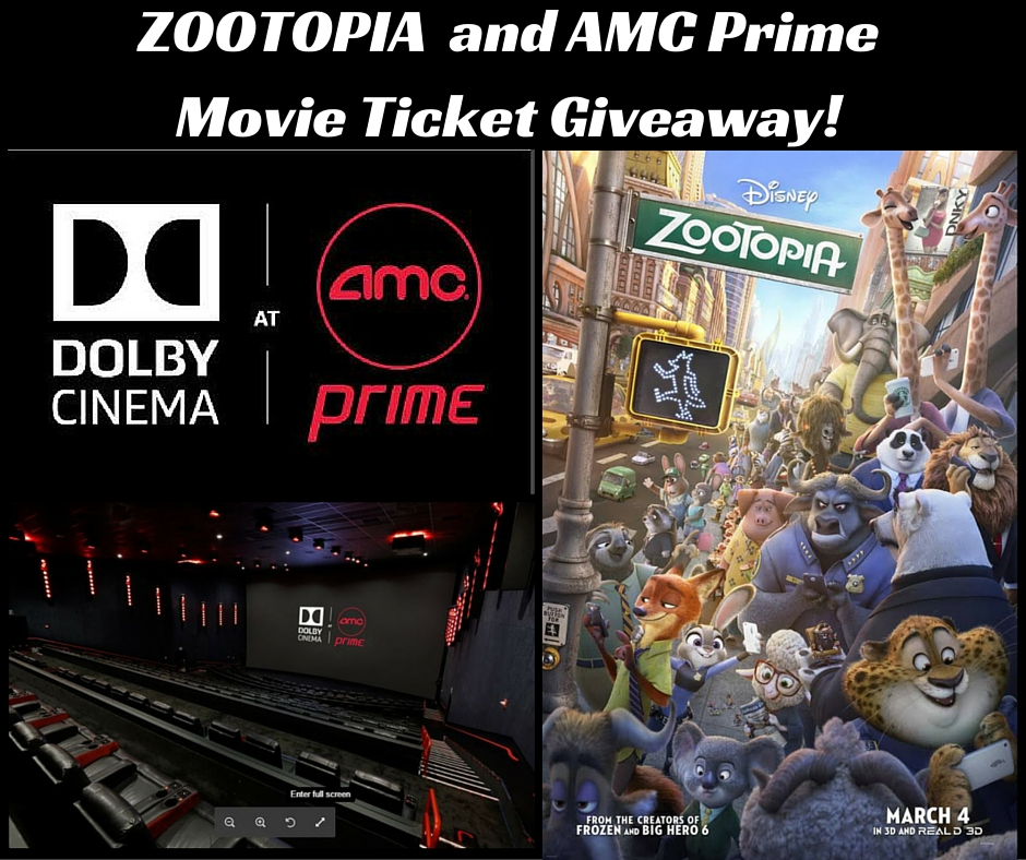 ZOOTOPIA and AMC Prime Ticket Giveaway! (1)