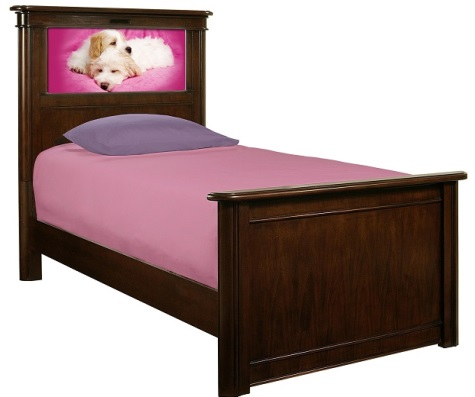 LightHeaded Bed Riviera Twin Bed - Cherry