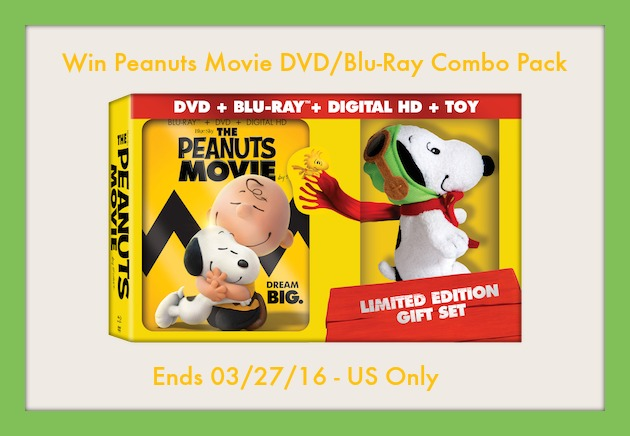 Peanuts Movie Combo Pack Giveaway2