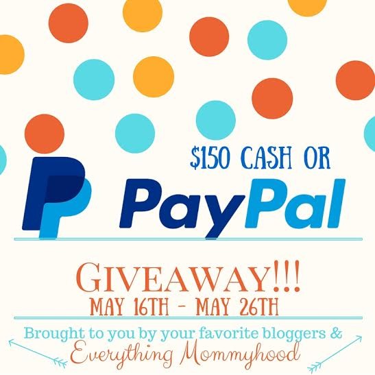 $150 PayPal or $150 Cash Giveaway