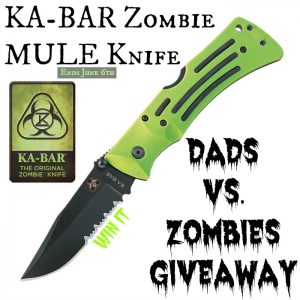 kabar zombie mule knife giveaway