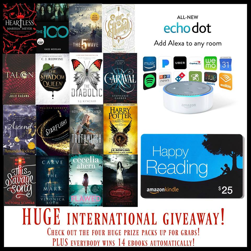 HUGE International YA Giveaway - Amazon Echo Dot and More Sweepstakes