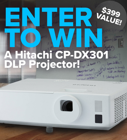 Hitachi CP-DX301 DLP Projector Sweepstakes
