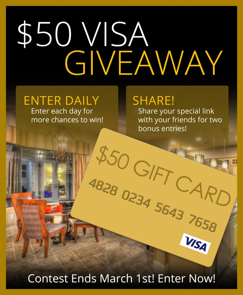 Kargar Homes $50 Visa Gift Card Sweepstakes